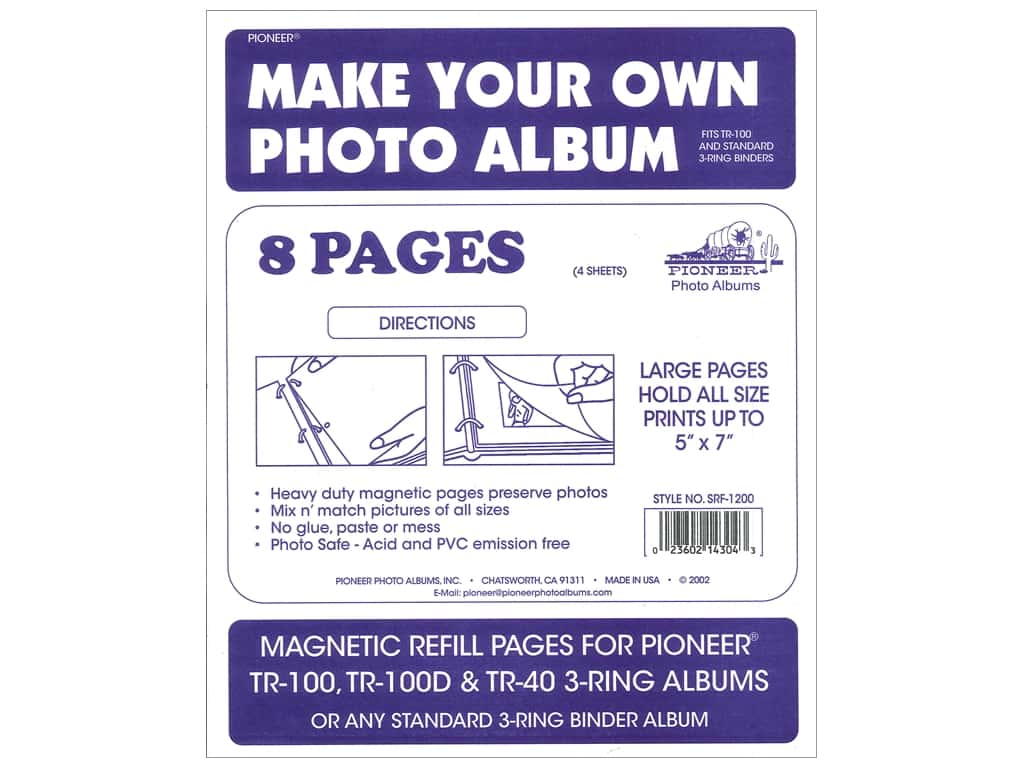Pioneer Refill Page Magnetic Album TR-100 4 pc
