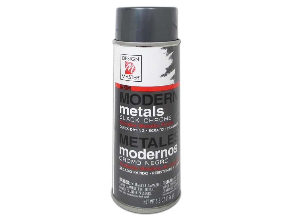 Design Master Modern Metals 5.5 oz Black Chrome