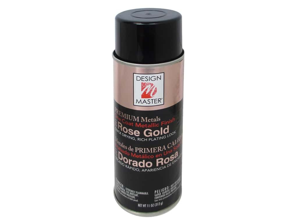 Design Master Premium Metals Spray Paint 11 oz. #241 Rose Gold