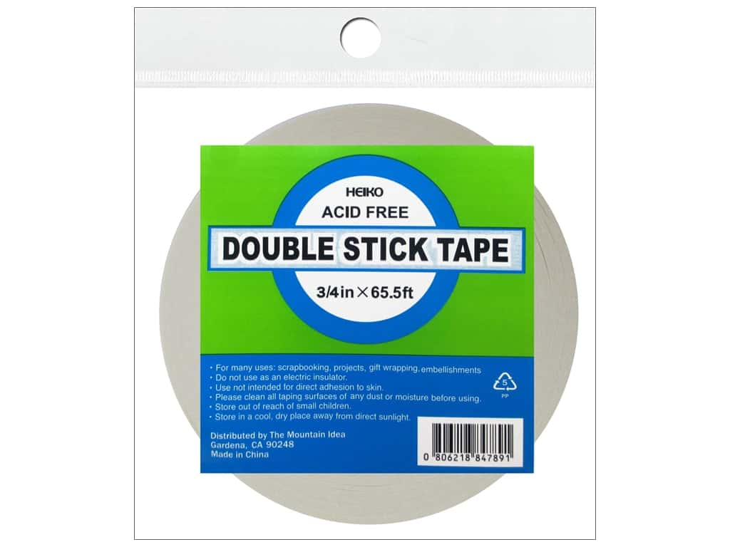 Heiko Double Stick Tape 3/4 in. x 65 1/2 ft.