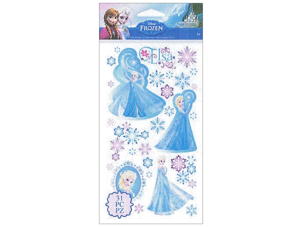 EK Disney Sticker Frozen Elsa & Snowflakes
