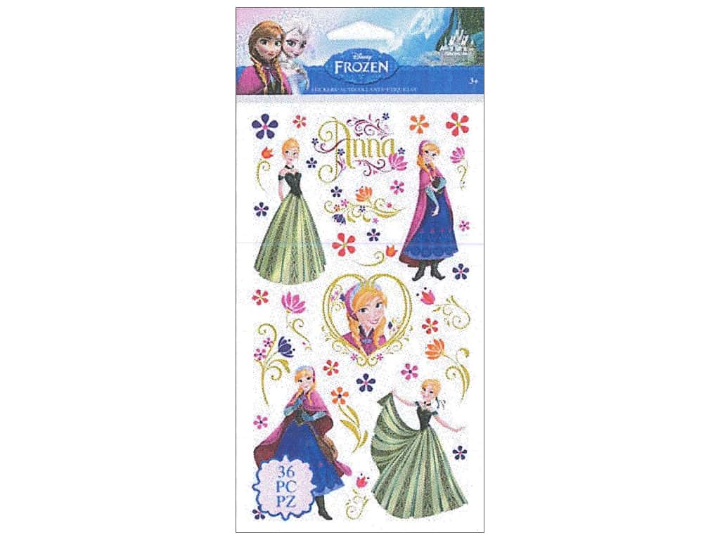 EK Disney Sticker Frozen Anna & Flowers
