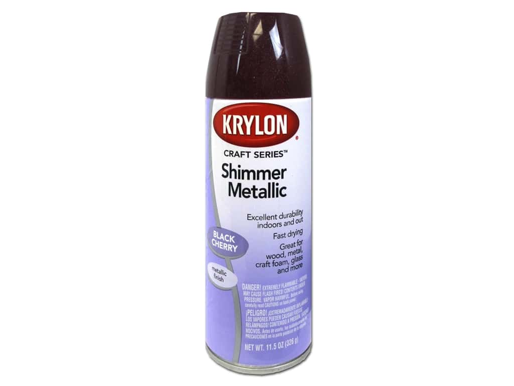 Krylon Shimmer Metallic Spray Paint 11.5 oz. Black Cherry