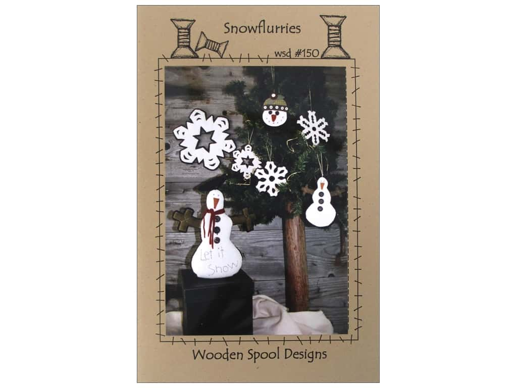 Wooden Spool Designs Snowflurries Pattern