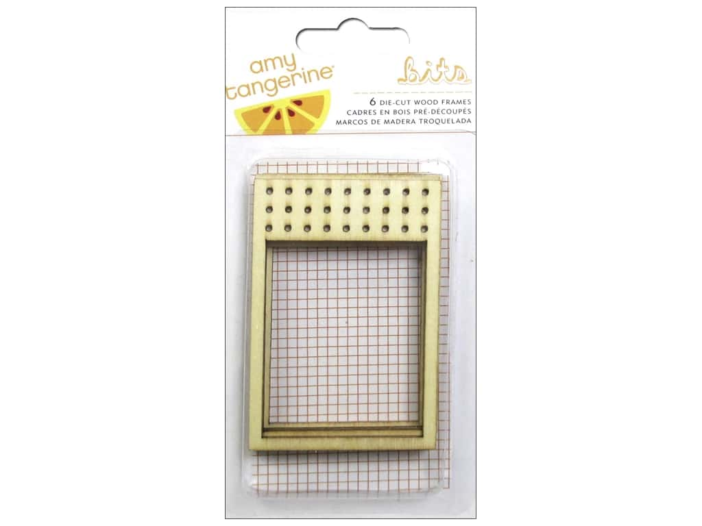 American Crafts Die Cut Wood Frames Amy Tangerine Stitched