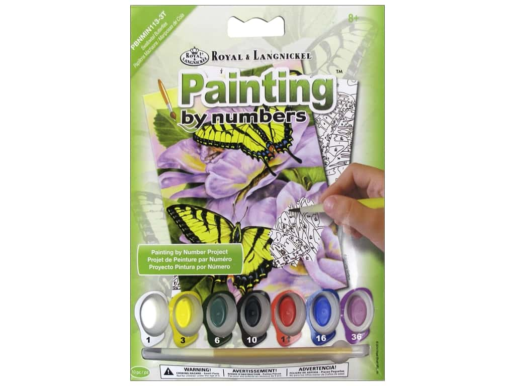 Royal Paint By Number Kit Swallowtail Butterflies