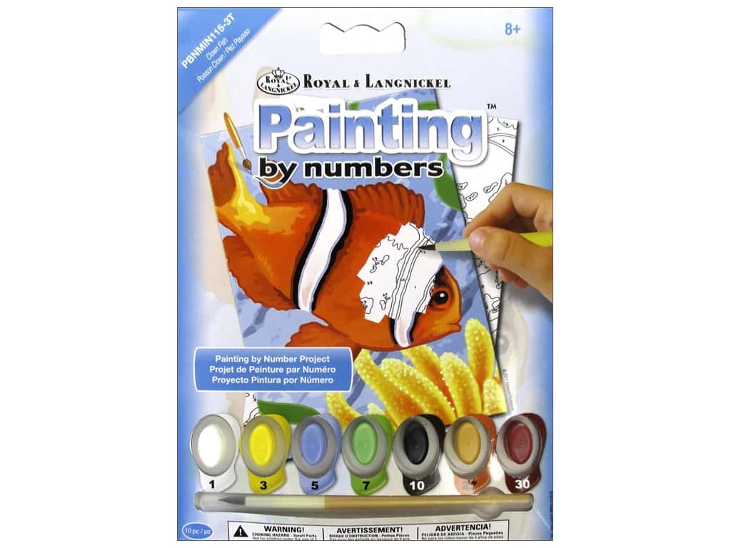 Royal Paint By Number Kit Mini Clown Fish