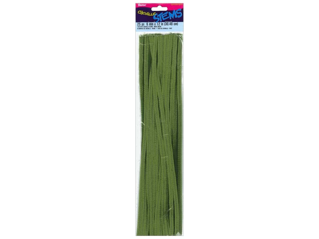 Darice Chenille Stems 6 mm x 12 in. Moss Green 25 pc.