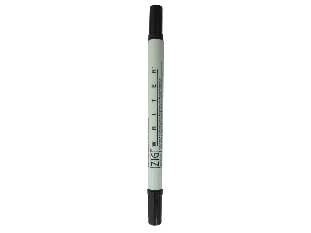Zig Writer Dual Tip Pen Pure Black (6 pieces)