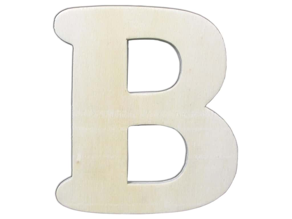"""Darice Unfinished Wood Letter 4 1/4 in. """"B"""" (12 pieces)"""