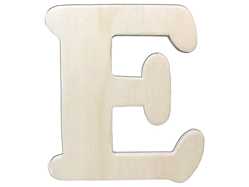 "Darice Unfinished Wood Letter 4 1/4 in. ""E"" (12 pieces)"