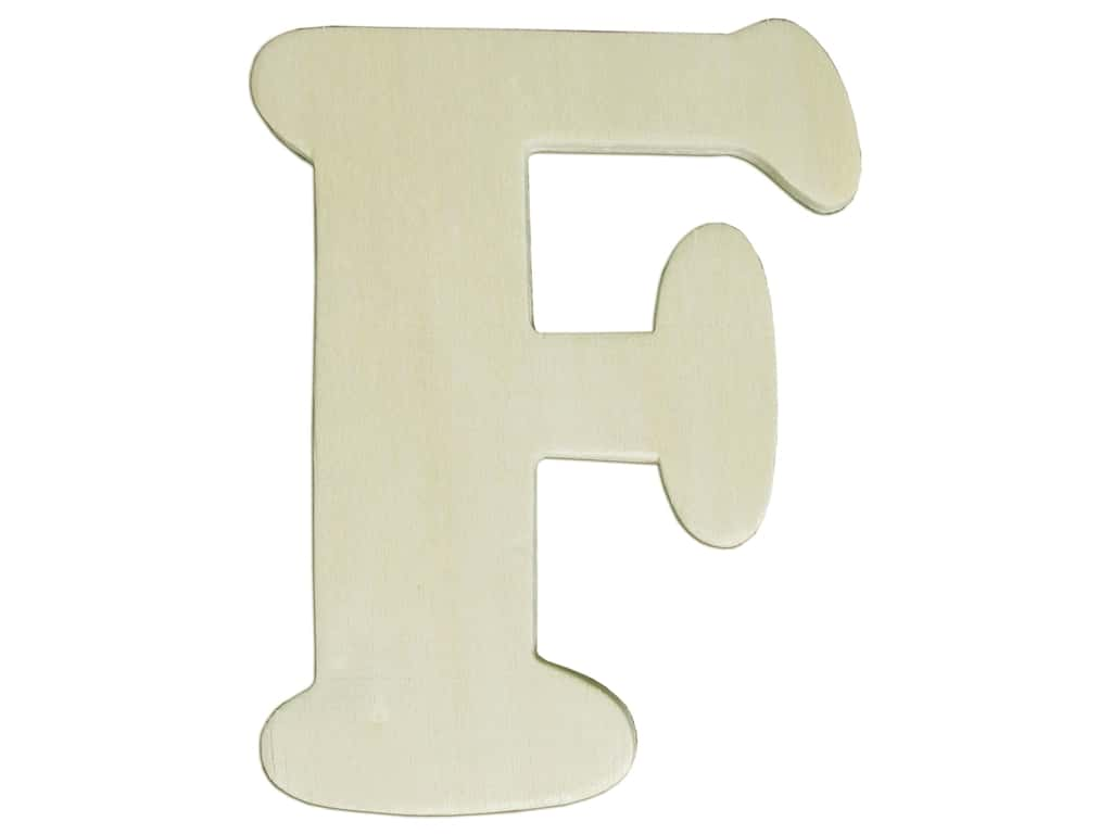 """Darice Unfinished Wood Letter 4 1/4 in. """"F"""" (12 pieces)"""