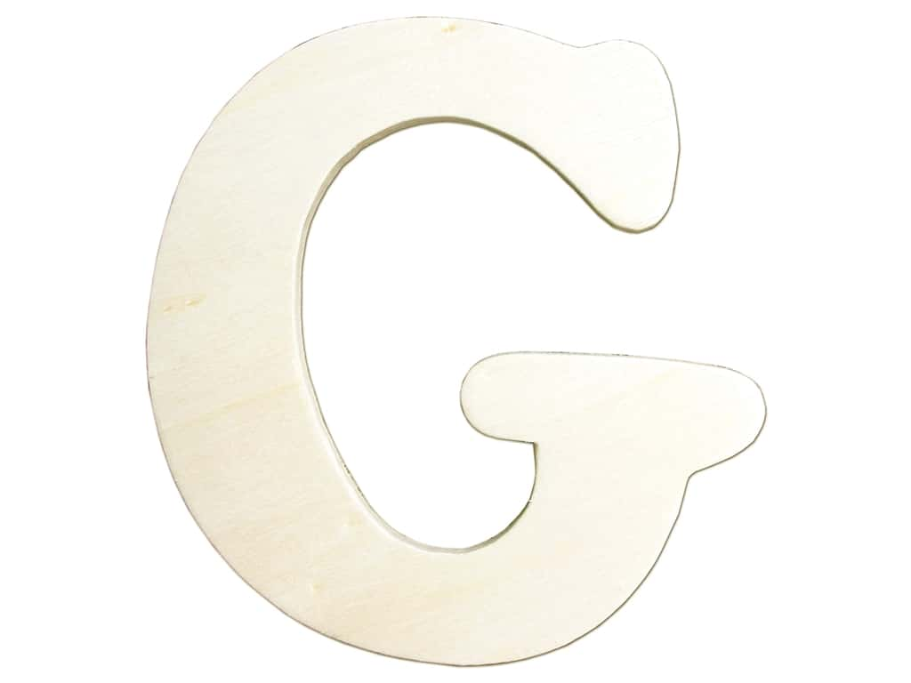 "Darice Unfinished Wood Letter 4 1/4 in. ""G"" (12 pieces)"