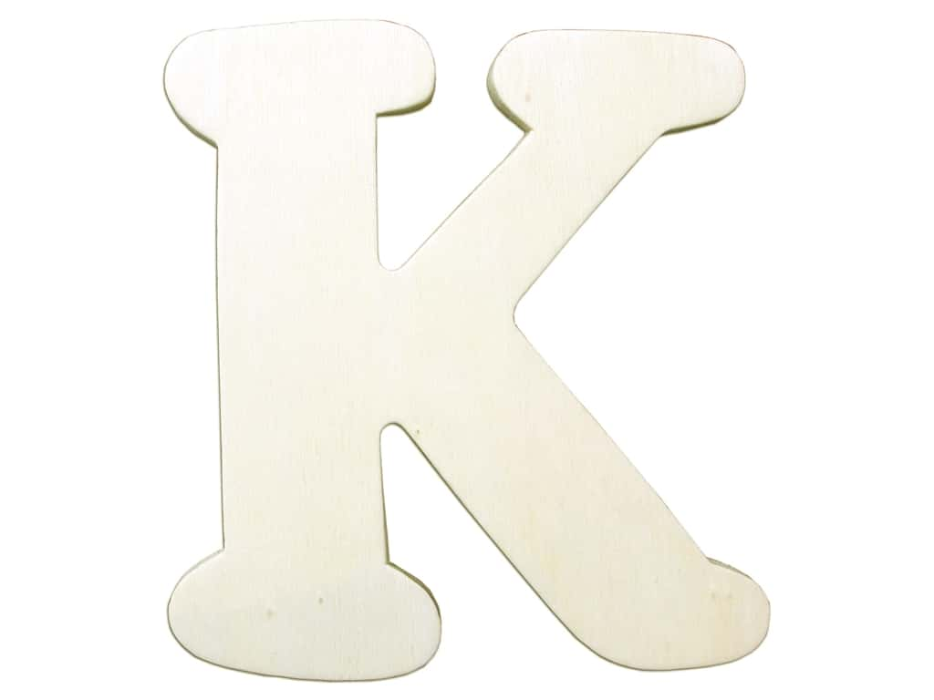 "Darice Unfinished Wood Letter 4 1/4 in. ""K"" (12 pieces)"