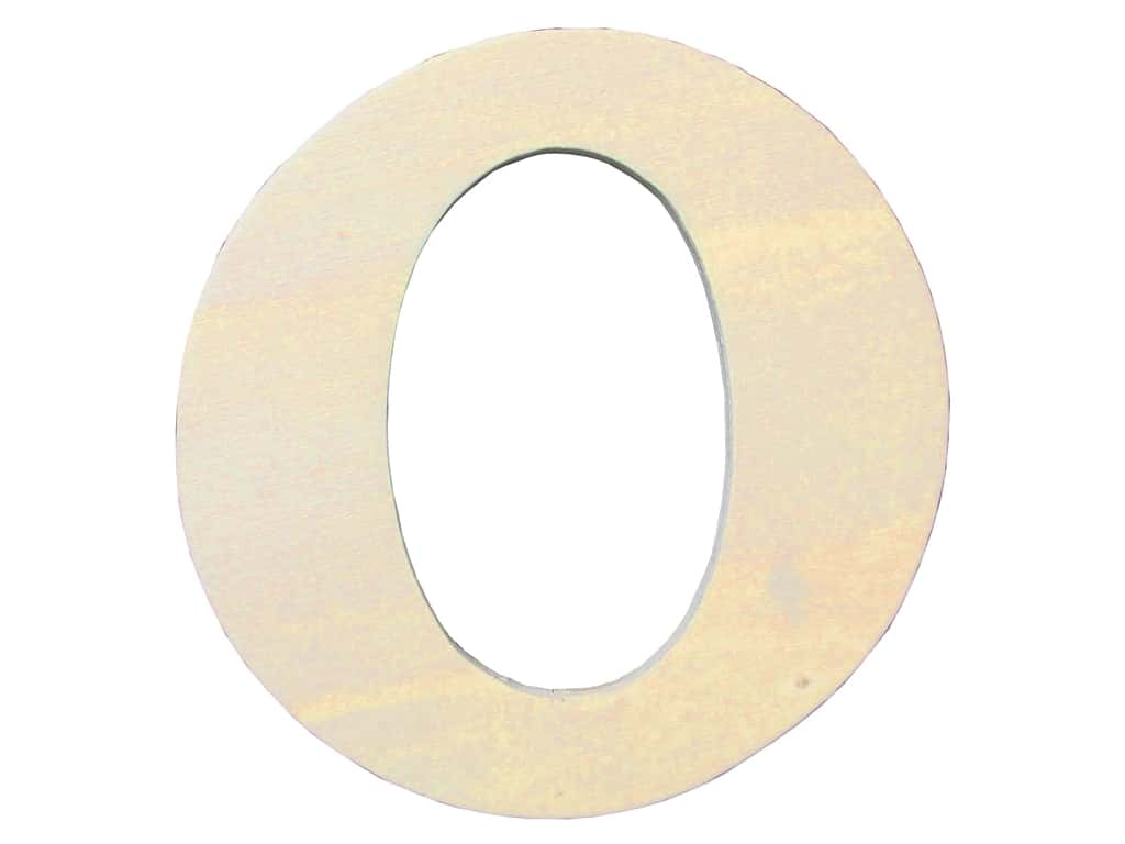 "Darice Unfinished Wood Letter 4 1/4 in. ""O"" (12 pieces)"