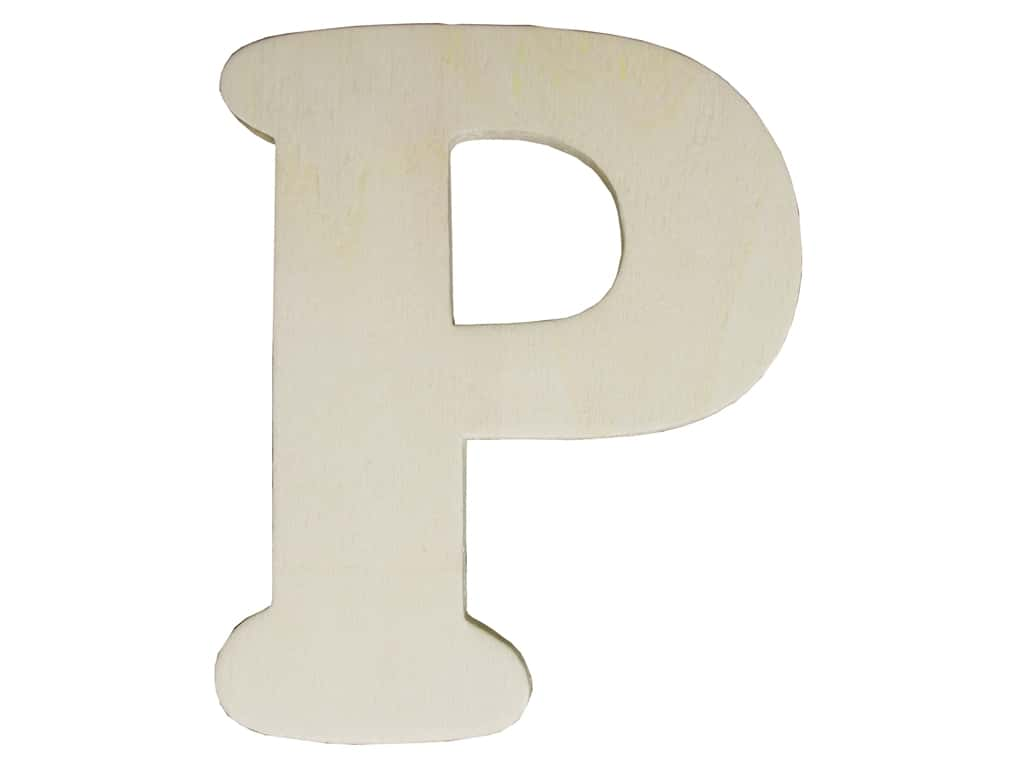 """Darice Unfinished Wood Letter 4 1/4 in. """"P"""" (12 pieces)"""