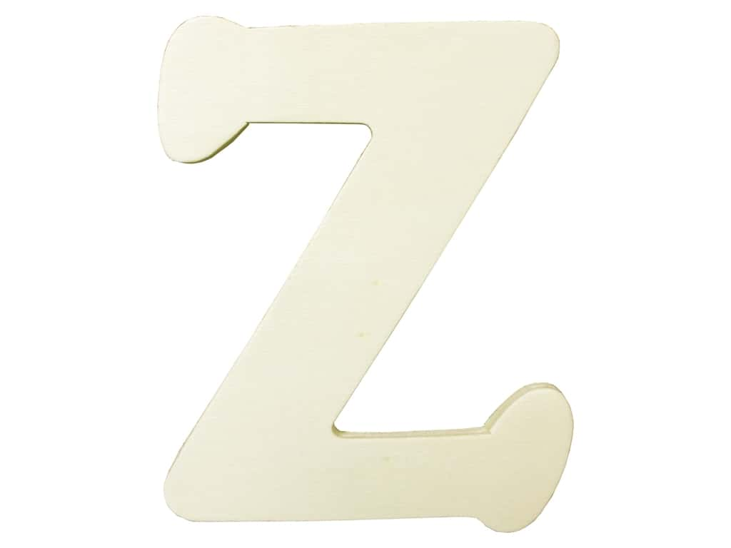 "Darice Unfinished Wood Letter 4 1/4 in. ""Z"" (12 pieces)"