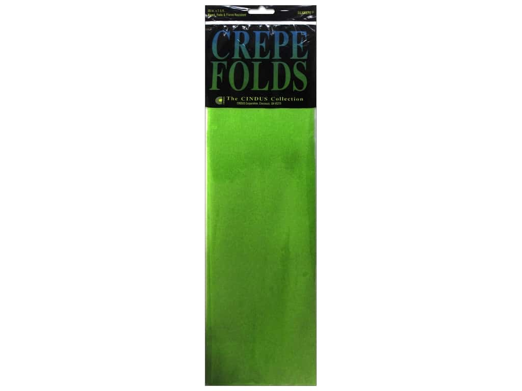 Crepe Paper Folds by Cindus 20 in. x 7 1/2 ft. Light Green