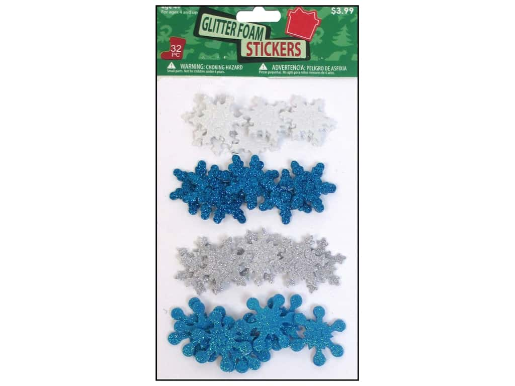 Sierra Pacific Crafts Stickers Assorted Snowflakes