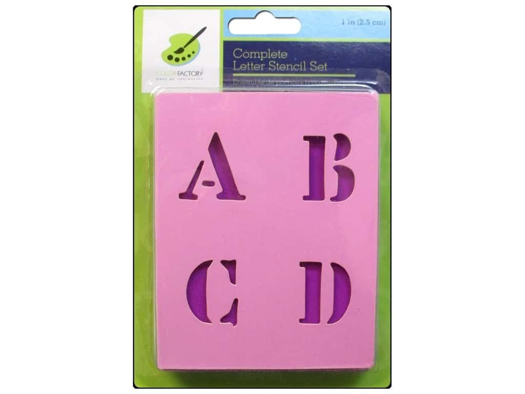 Craft Decor Stencil Set 1 in. Letters