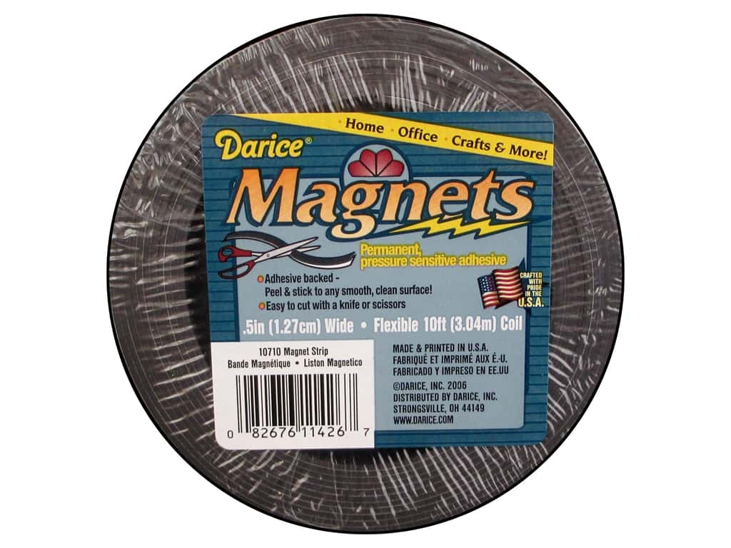 Darice Adhesive Back Magnet Strip 10 ft.