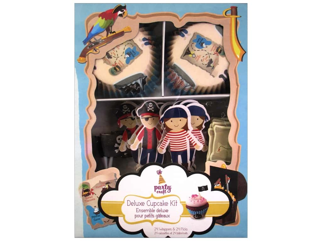 Multicraft Party Deluxe Cupcake Box Ahoy Matey