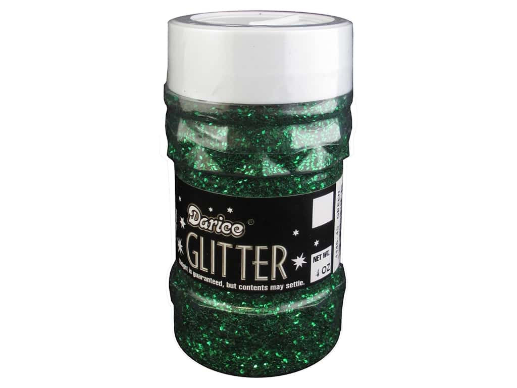 Darice Glitter Jar 4 oz. Green