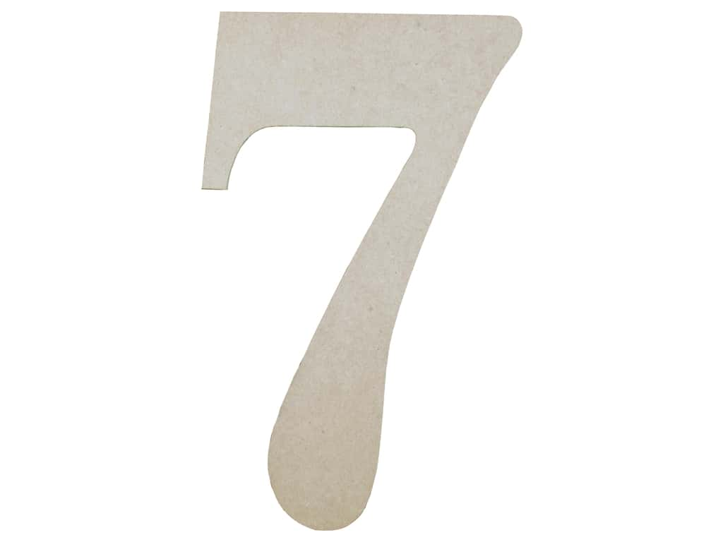 Sierra Pacific Crafts MDF Number 9.5 in. 7