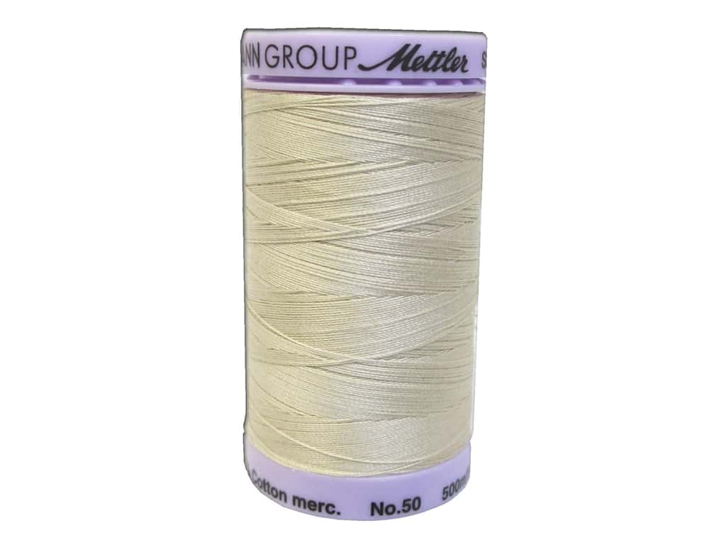 Mettler Silk Finish Cotton Thread 50 wt. 547 yd. #0001 Eggshell