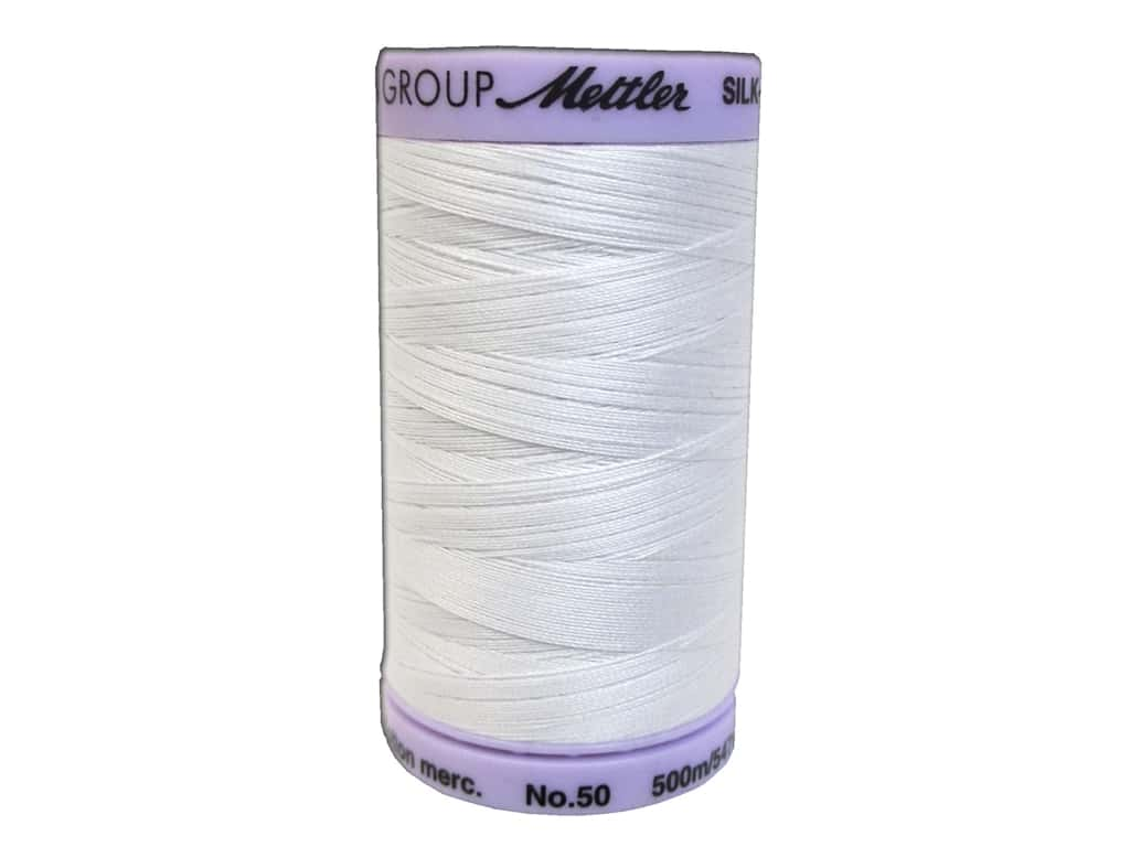 Mettler Silk Finish Cotton Thread 50 wt. 547 yd. #2000 White