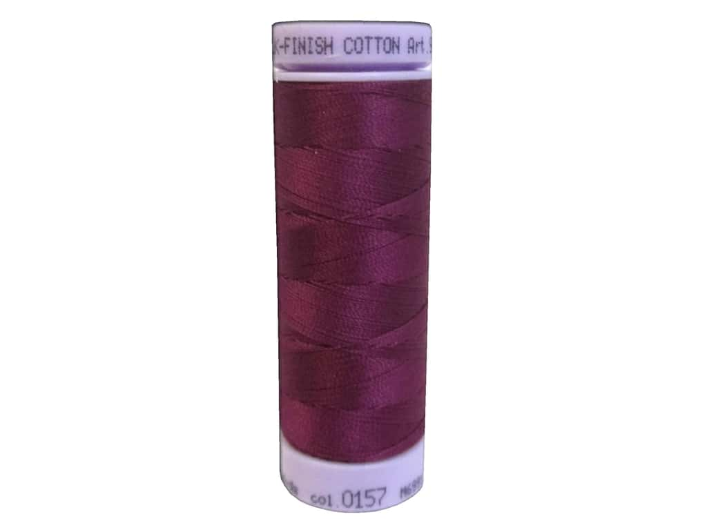 Mettler Silk Finish Cotton Thread 50 wt. 164 yd. #0157 Sangria