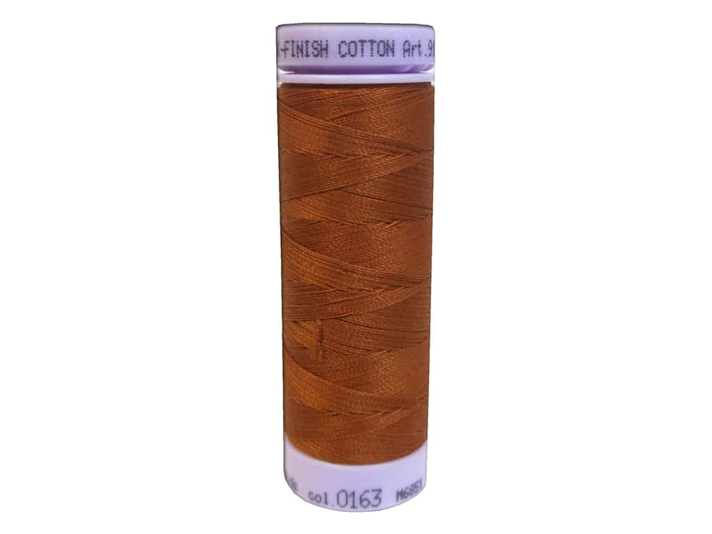 Mettler Silk Finish Cotton Thread 50 wt. 164 yd. #0163 Copper