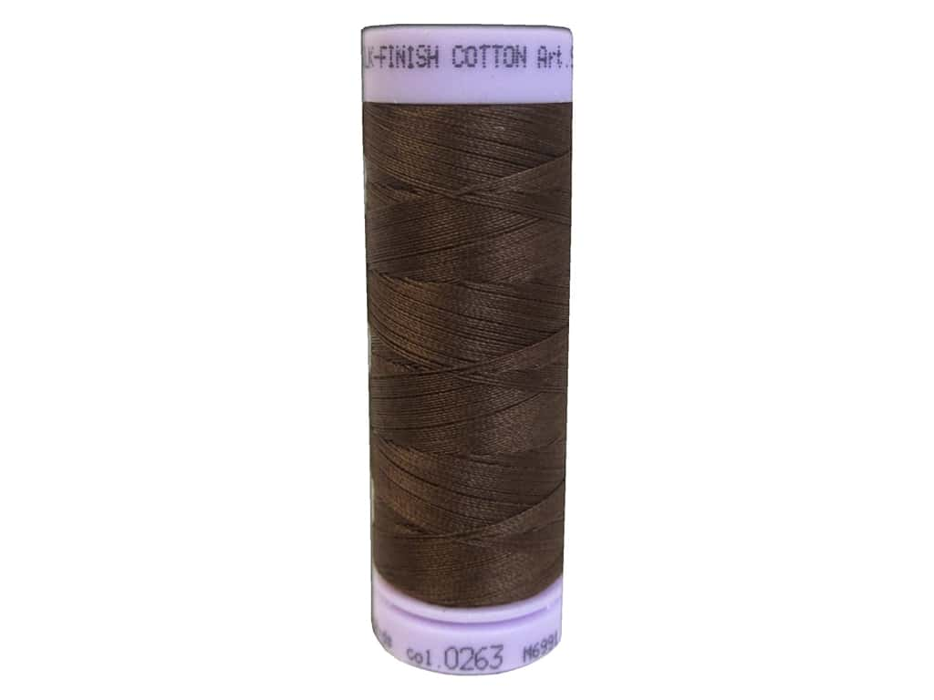 Mettler Silk Finish Cotton Thread 50 wt. 164 yd. #0263 Redwood