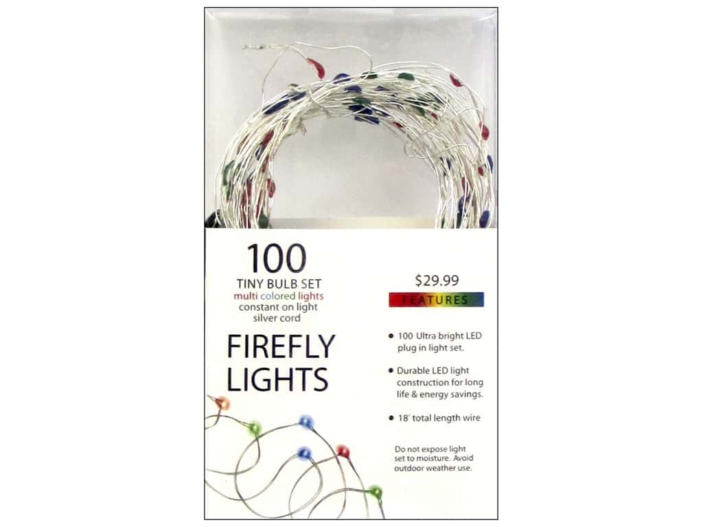 Sierra Pacific Lights Firefly LED 100 ct Multi/Silver Cord