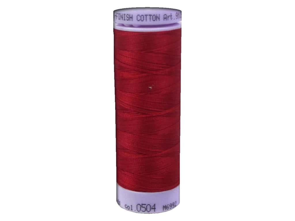 Mettler Silk Finish Cotton Thread 50 wt. 164 yd. #0504 Country Red