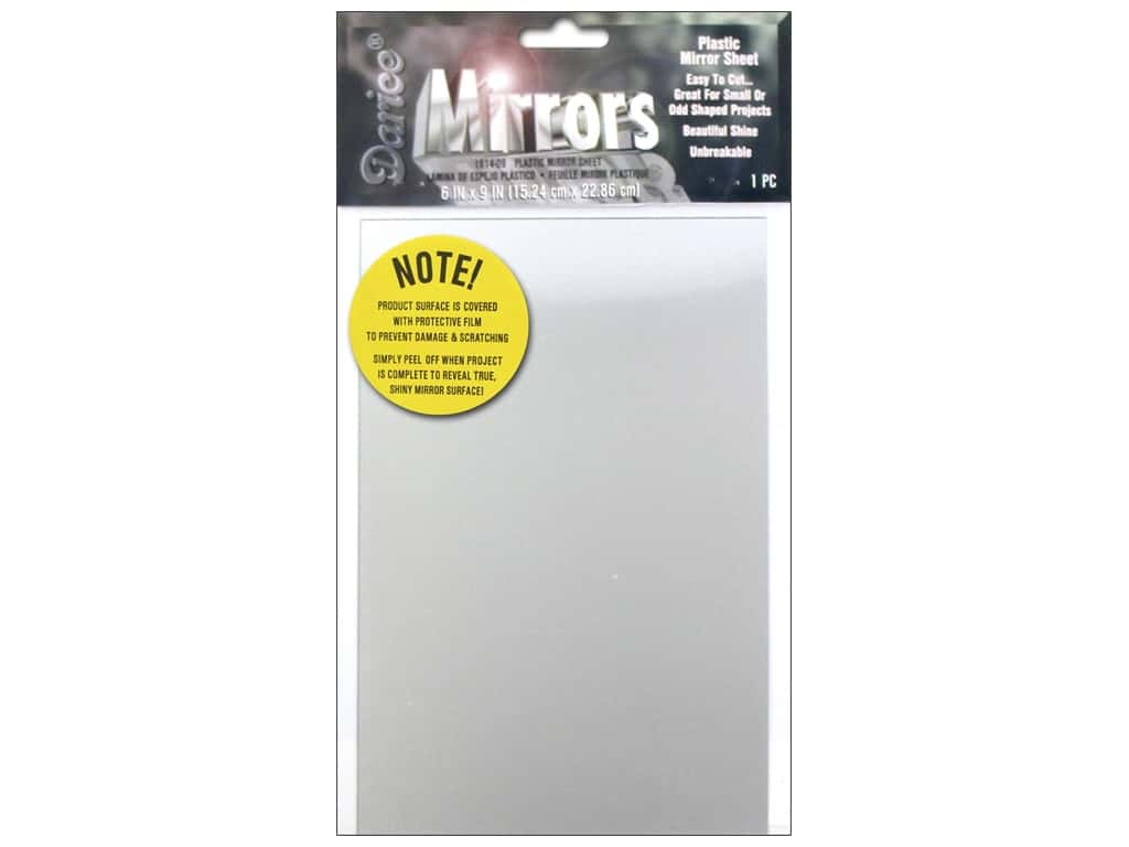 Darice Plastic Mirror Sheet 6 x 9 in.