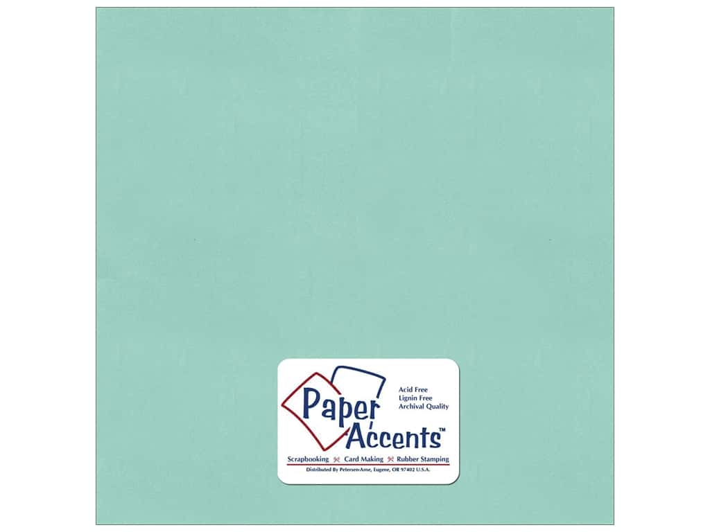 Paper Accents Pearlized Paper 12 x 12 in. #8860 Frosted Teal (25 sheets)