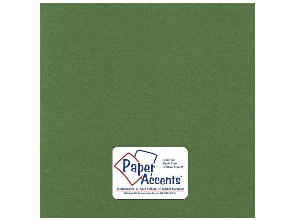 Paper Accents Cardstock 12 x 12 in. #8864C Pearlized Cilantro 25 pc.