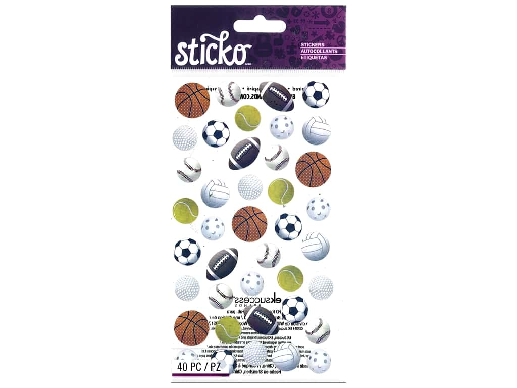 Sticko Stickers - Sports Balls