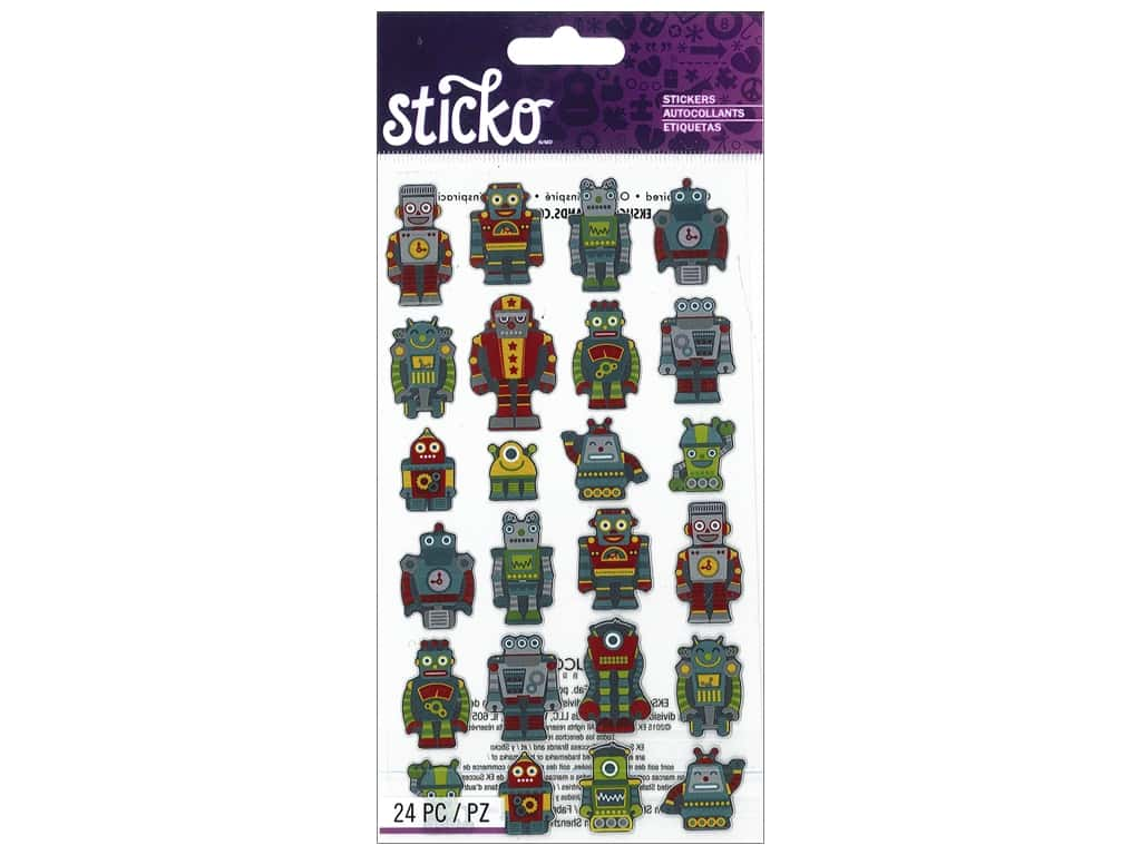 EK Sticko Stickers Mini Robots