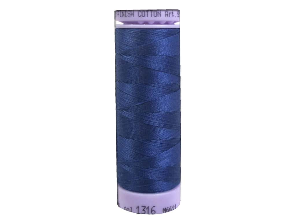 Mettler Silk Finish Cotton Thread 50 wt. 164 yd. #1316 Steel Blue