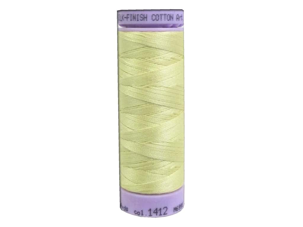 Mettler Silk Finish Cotton Thread 50 wt. 164 yd. #1412 Lemon Frost