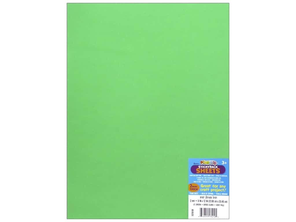 Darice Foamies Foam Sheet 9 x 12 in. 2 mm. Light Green