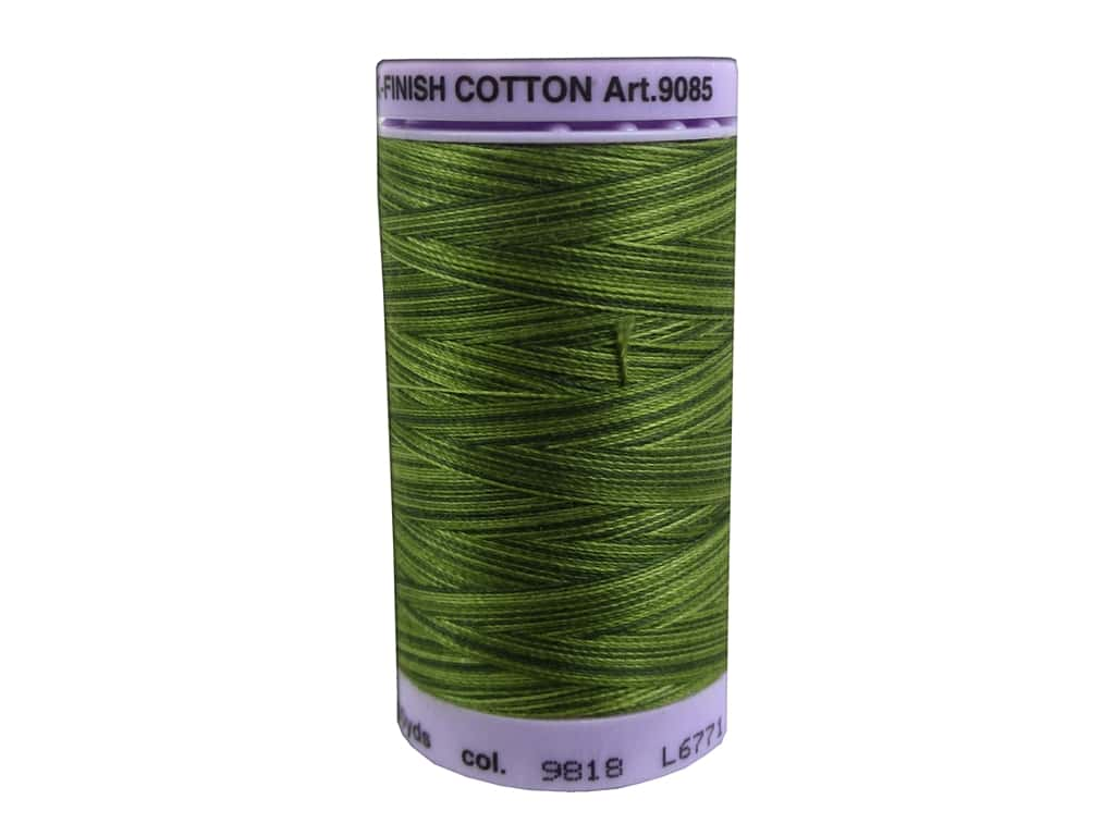 Mettler Silk Finish Cotton Thread 50 wt. 500 yd. #9818 Ferns