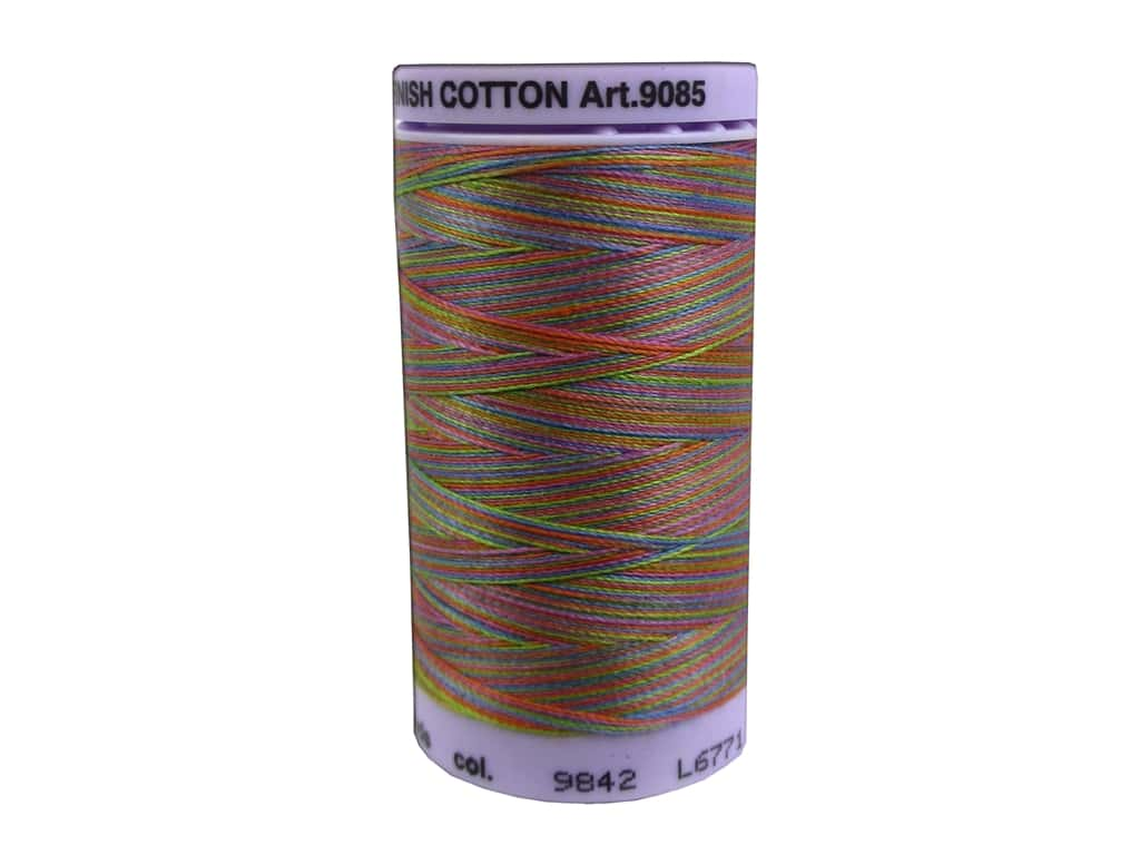 Mettler Silk Finish Cotton Thread 50 wt. 500 yd. #9842 Preppy Brights