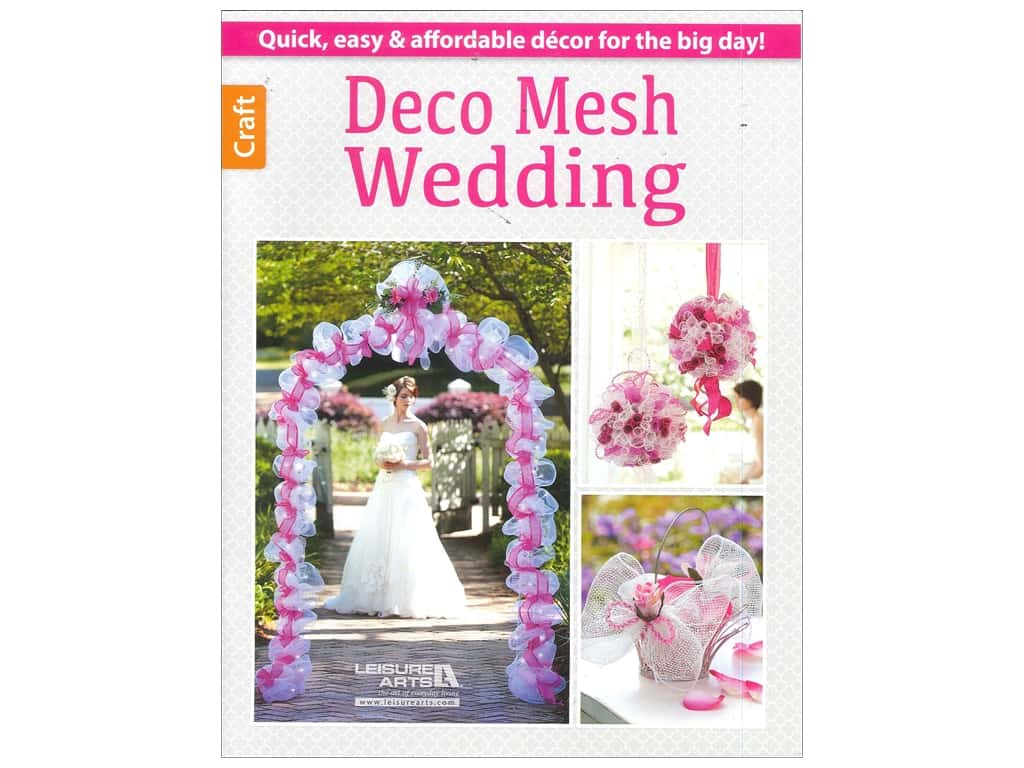 Leisure Arts Deco Mesh Wedding Book-