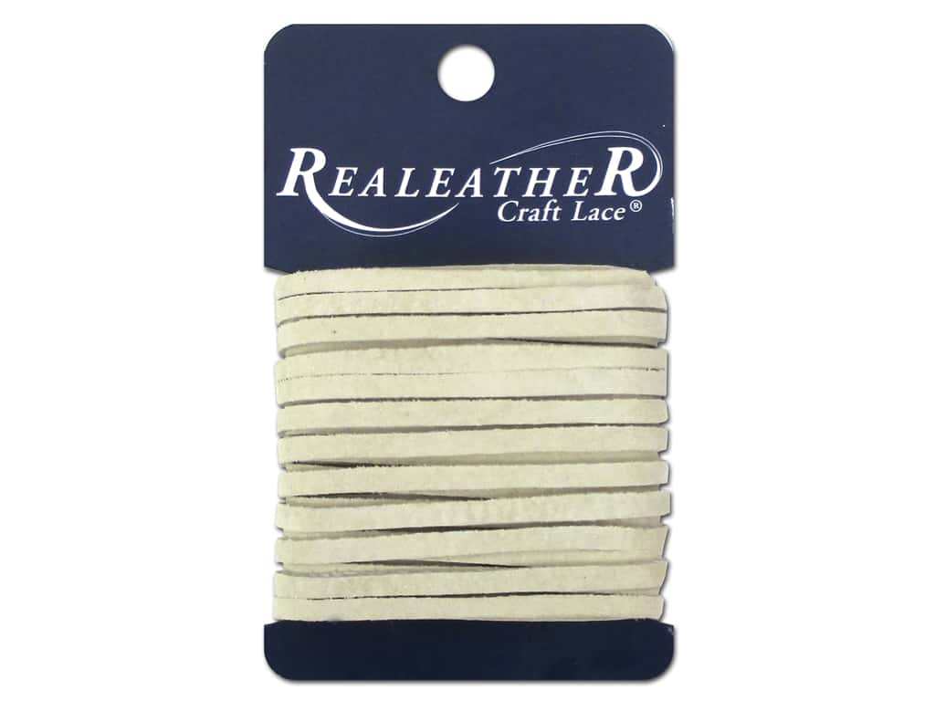 Silver Creek Suede Lace 1/8 in. x 8 yd. Ivory