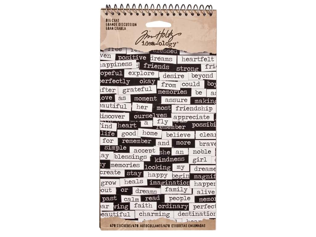 Tim Holtz Idea-ology Big Chat Stickers