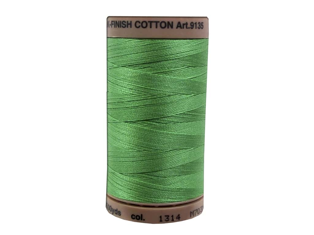 Mettler Silk Finish Cotton Thread 40 wt. 500 yd. #1314 Vibrant Green