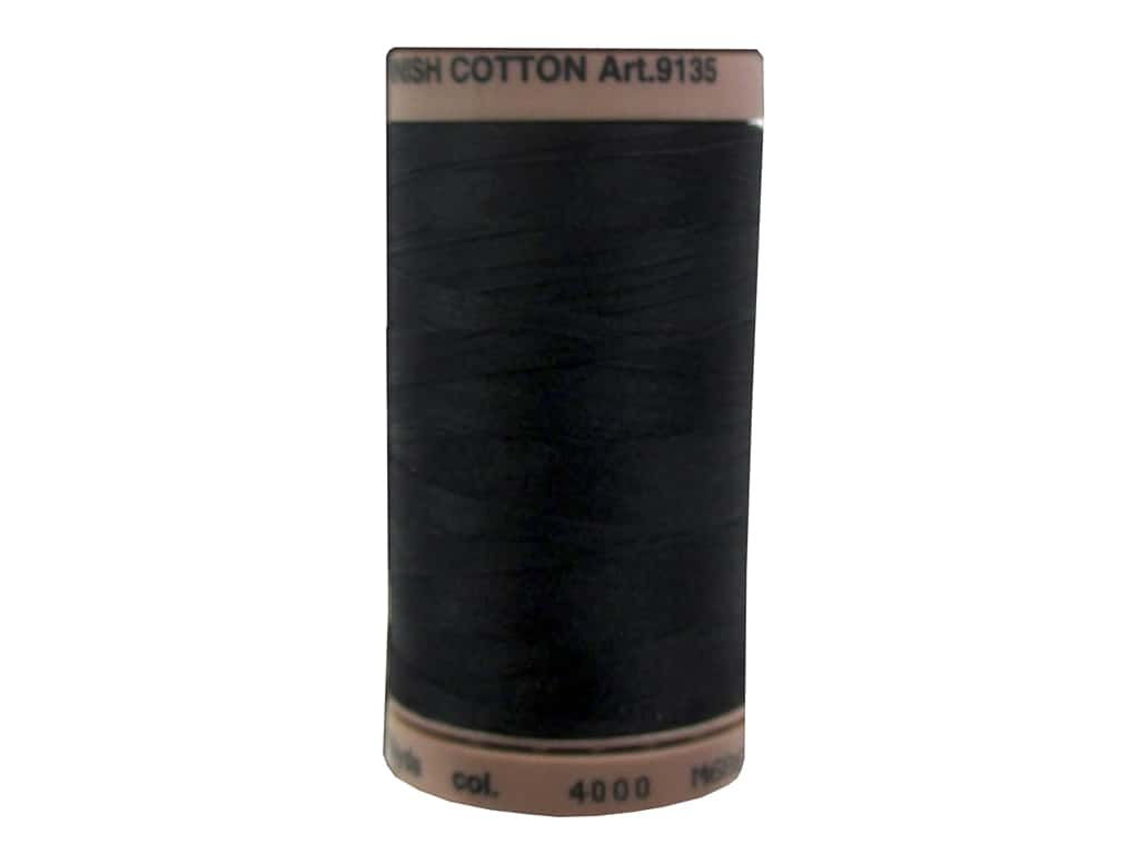 Mettler Silk Finish Cotton Thread 40 wt. 500 yd. #4000 Black